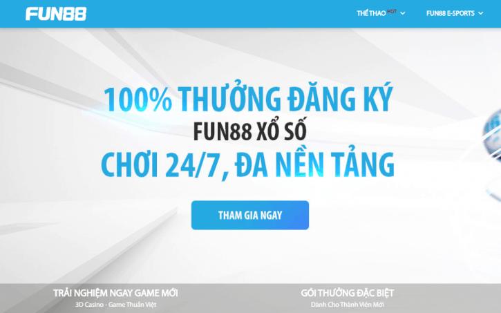 Trang chủ đăng ký chính thức nhà cái Fun88bet